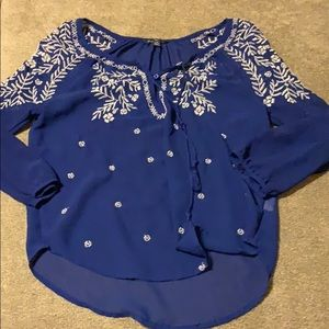 American Eagle Outfitters Sheer Blouse